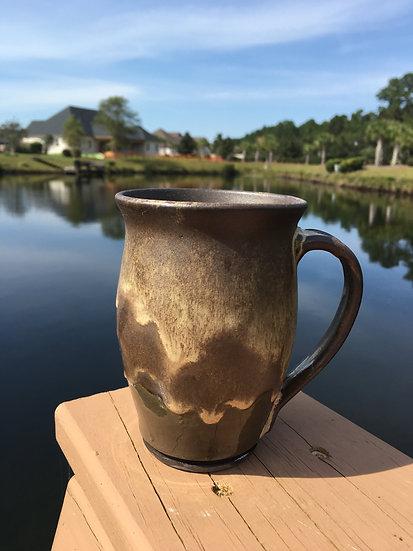 Gold and Brown Mug