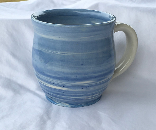 Large Marbled Blue Mug