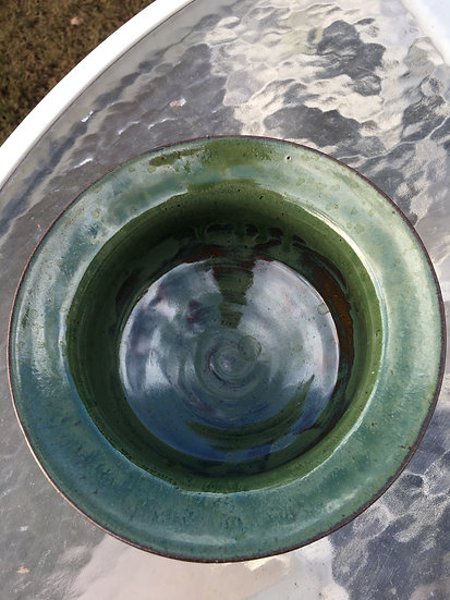 Green Wide Lipped Bowl