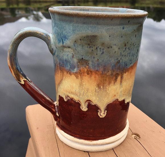 Blue, Gold & Red Mug