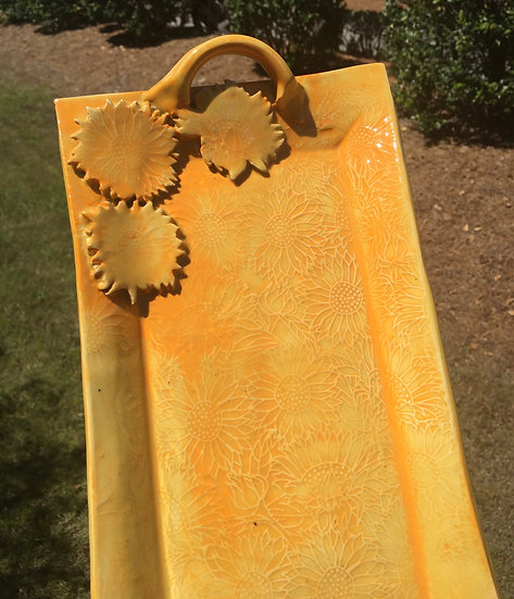 Large sunflower tray