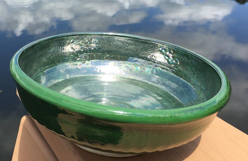 Irridescent Metallic Green Bowl