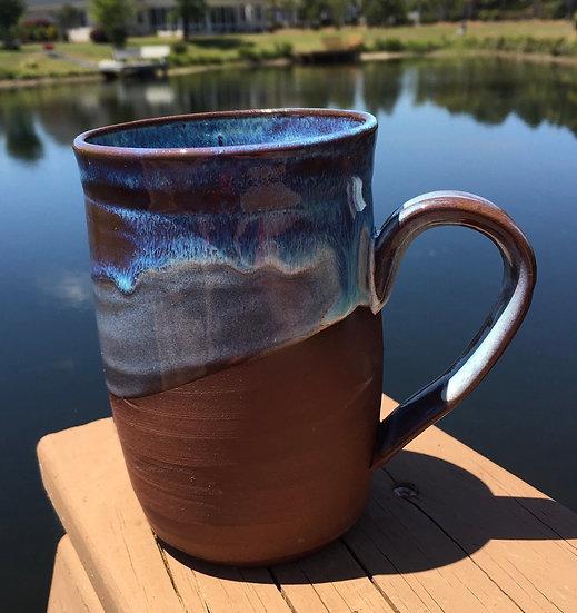 Blue and purple wave mug