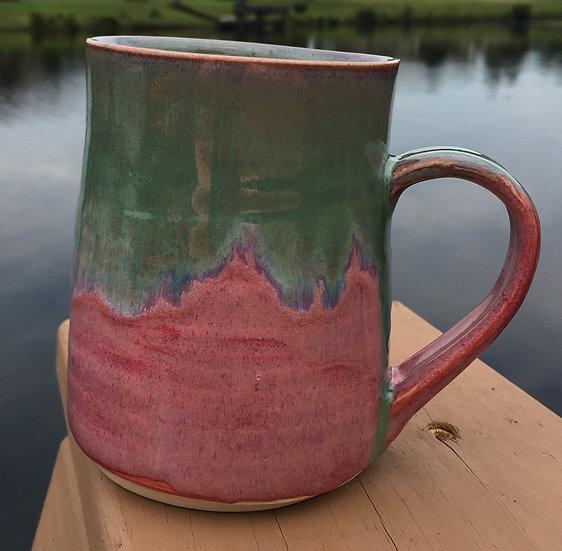 pink & green mug