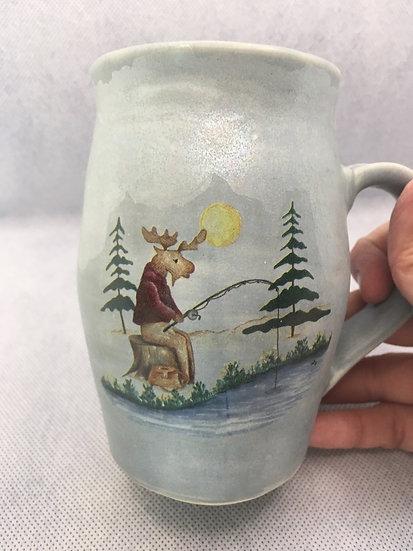 Fishing Moose Mug