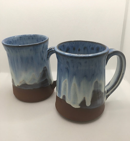 Blue Seas Red Clay Mugs