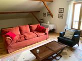 Le salon de la chambre 3 à l'étage de la Villa