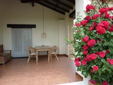 La terrasse couverte du Cottage