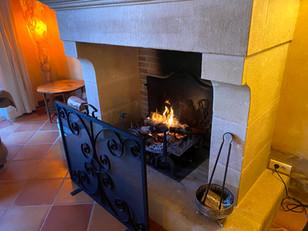 La cheminée de la villa