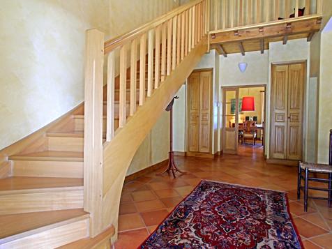 Le hall d'entrée de la Villa