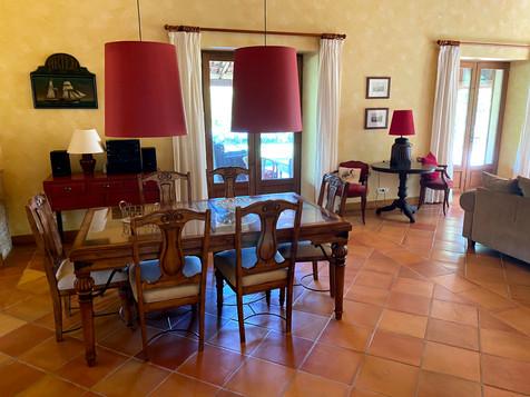 La salle à manger de la Villa