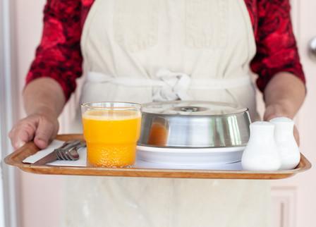 In-room breakfast trays