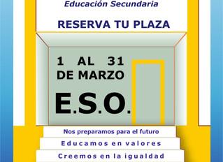 Preinscripciones E.S.O. curso 2018-19
