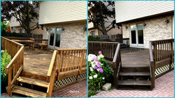 Deck re-staining in Niles, IL