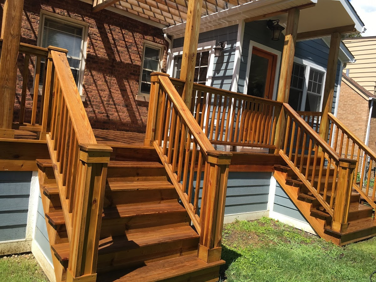 porch staining services
