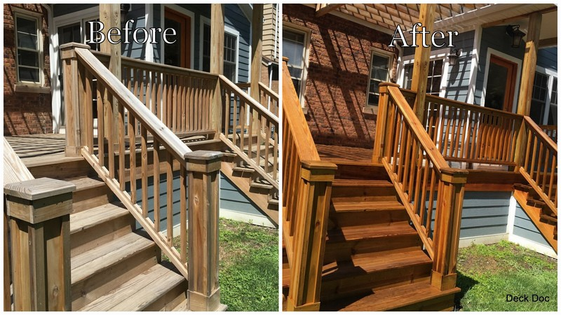 Sealing of Deck and Stairs