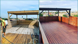 Rooftop Deck Re-staining Chicago, IL