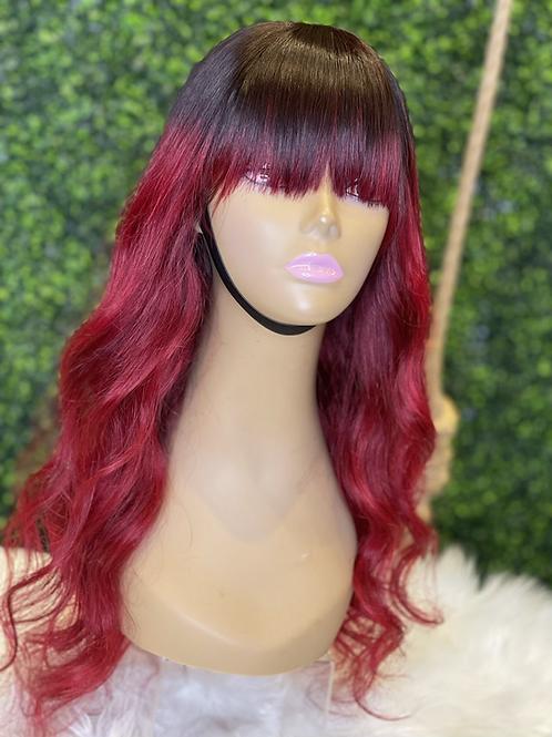 Aaliyah 1B/BRG bang wig