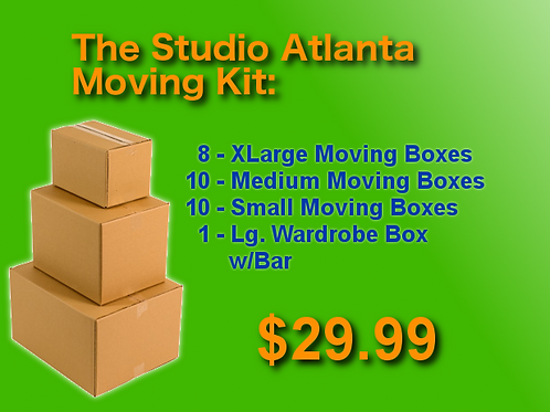 The Studio Atlanta Moving Kit - 28 Boxes + Supplies