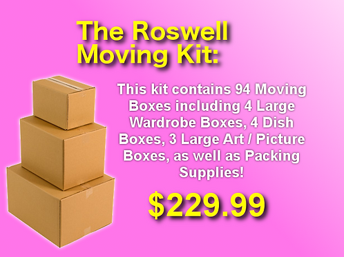 The Roswell Moving Kit - 94 Boxes + Supplies
