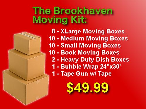 The Brookhaven Moving Kit - 40 Boxes + Supplies