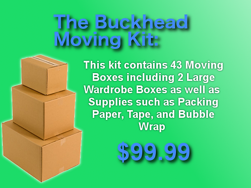The Buckhead Moving Kit - 43 Moving Boxes + Supplies