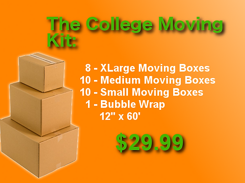 The College Moving Kit - 28 Boxes + Supplies