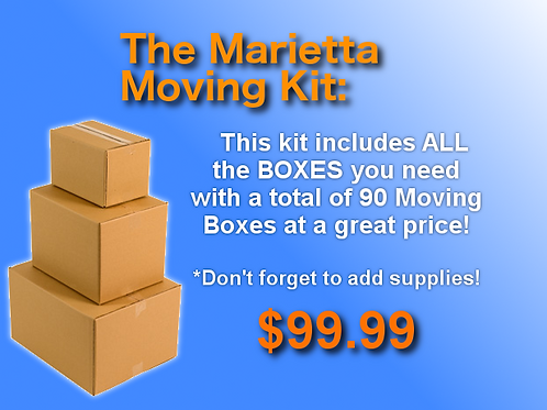 The Marietta Moving Kit - 90 Moving Boxes