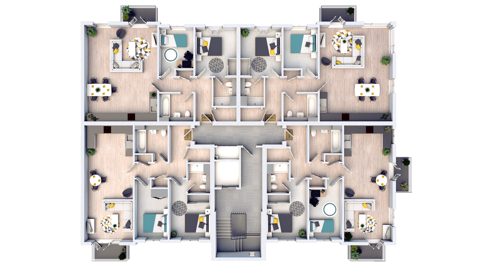 The Solus Apartments first floor preliminary floorplans
