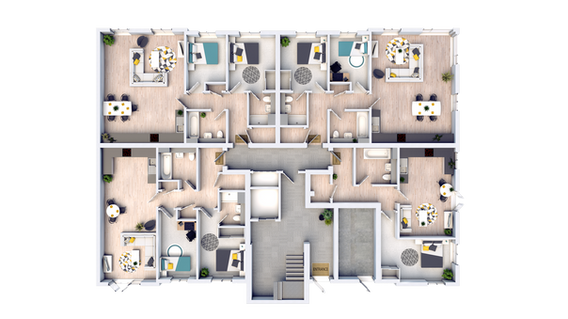 The Solus Apartments ground floor preliminary floorplans