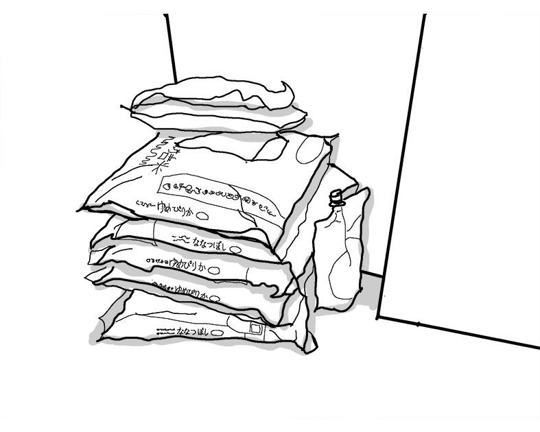 収納 ビニール袋の30kg図