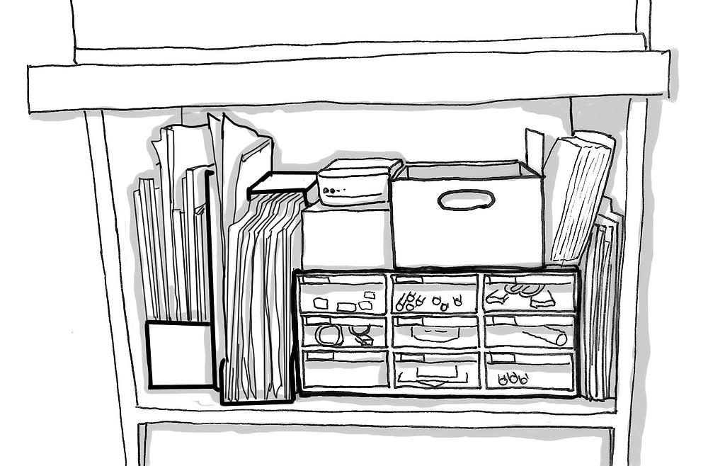 整理収納 棚の中