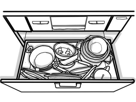 【我が家のキッチン】鍋収納苦手です。
