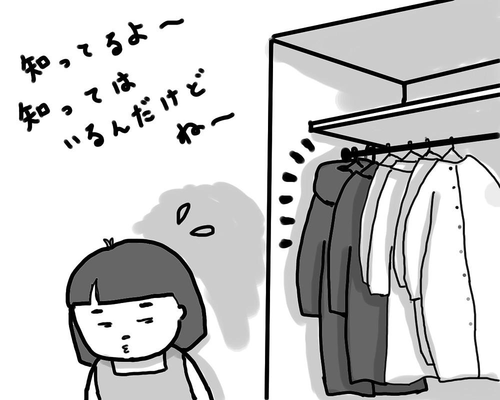 整理収納 コートをクリーニングに