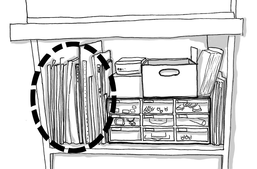 整理収納 文具棚のここを整理