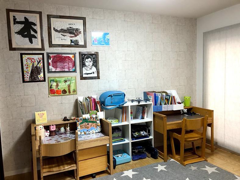 整理収納 子供部屋写真学習机
