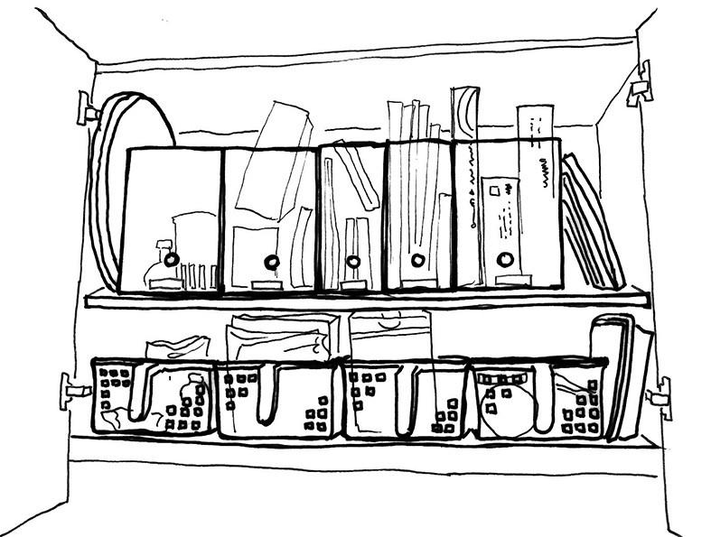 キッチン収納 吊戸棚 イラスト
