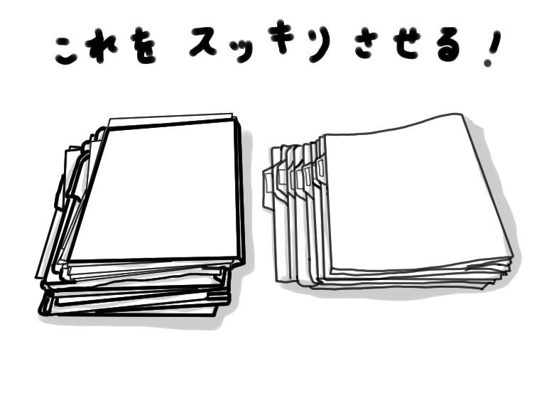整理収納 フラットファイルざっと広げるとこんな感じ
