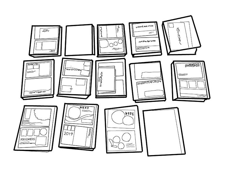 整理収納 年賀状のファイル14冊