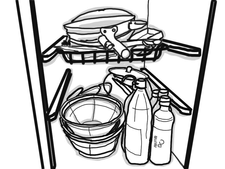 整理収納 キッチン収納 お鍋のフタ