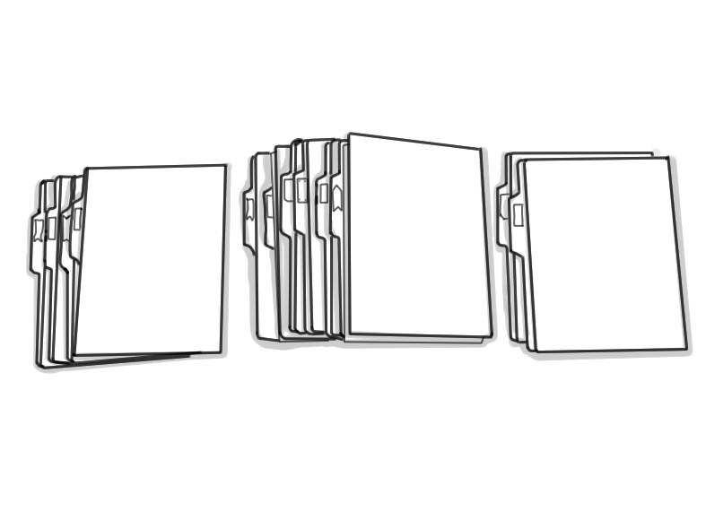 整理収納 フラットファイル何冊か