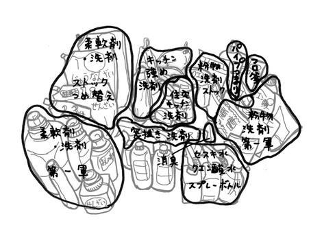 【整理収納】洗剤類収の片付け②~ざっくり分類して収納~