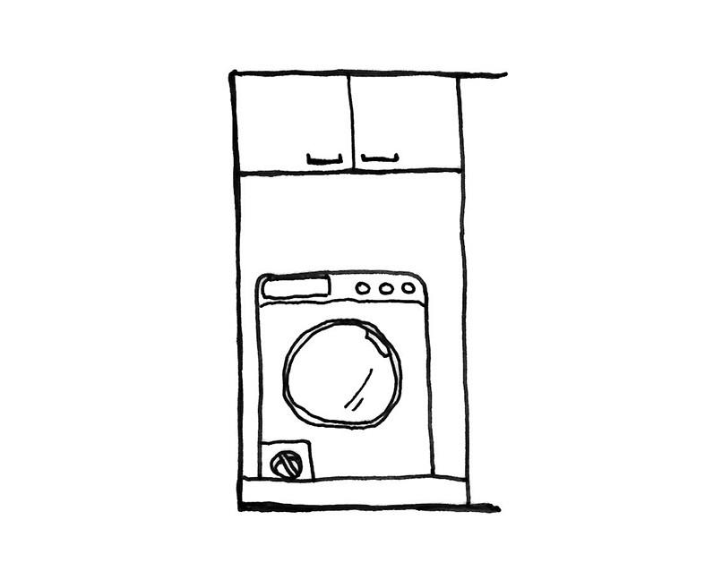 洗濯機の上収納