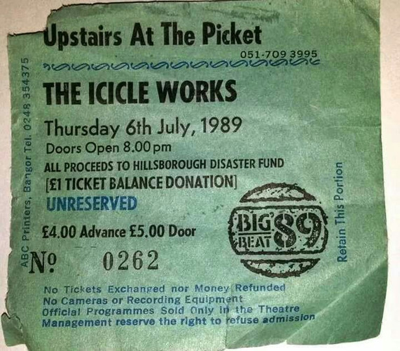 The Icicle Works, Upstairs At The Picket