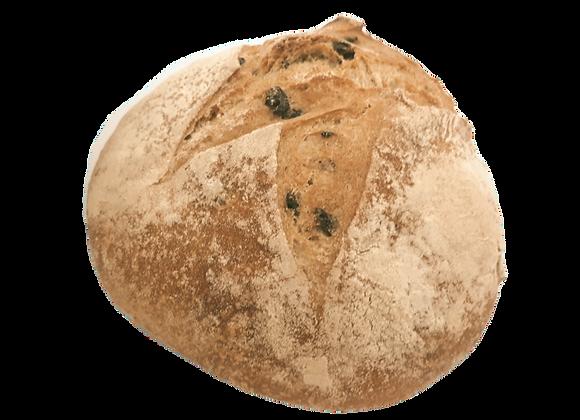 Miche de pain aux olives