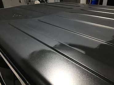 During restore process on Jeep Roof