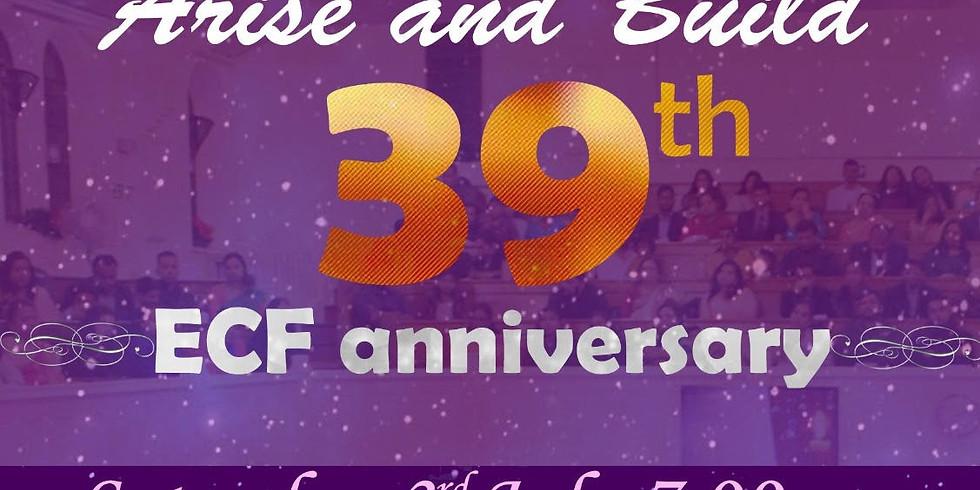 ECF 39th Church Anniversary Service | 7:00 PM | 03-July-2021