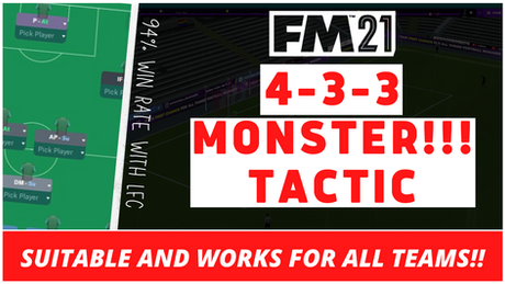 VIDEO: MONSTER 4-3-3 Tactic - 94% Win Rate