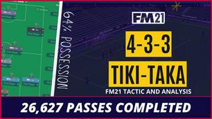 Best Tiki-Taka FM21 Tactic   RDF's Tactical Analysis