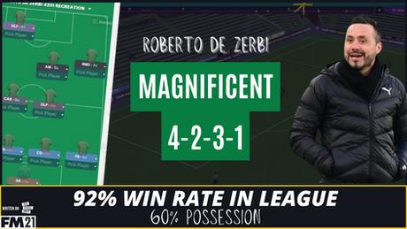 VIDEO: 92% WIN RATE In The League 4-2-3-1 Roberto De Zerbi Tactical Analysis